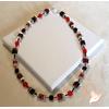 Collier Stendhal rouge et noir - au coeur des arts