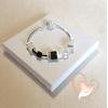 Bracelet élégance argent- au coeur des arts