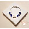 Bracelet élégance bleu argent- au coeur des arts