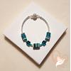 Bracelet élégance Lagon argent- au coeur des arts