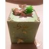 Tirelire enfant bébé fille petite fée clochette verte - au coeur des arts