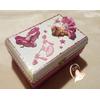 Boîte à trésors danseuse rose et blanche - au coeur des arts