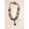 Bracelet argent cristal style pandora - au coeur des arts