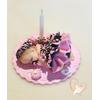 Porte bougie anniversaire bébé fille zinnia - au coeur des arts