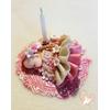 Porte bougie anniversaire bébé fille Camélia - au coeur des arts