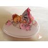 Veilleuse galet lumineux bébé fille rose et blanc  - au coeur des arts
