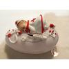 Veilleuse galet lumineux bébé fille Infirmière- au coeur des arts