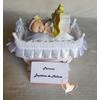 Marque place bébé fille jaune baptême - au coeur des arts