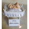 Marque place bébé garçon taupe et beige baptême - au coeur des arts