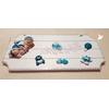Plaque de porte bébé garçon bleu turquoise- au coeur des arts