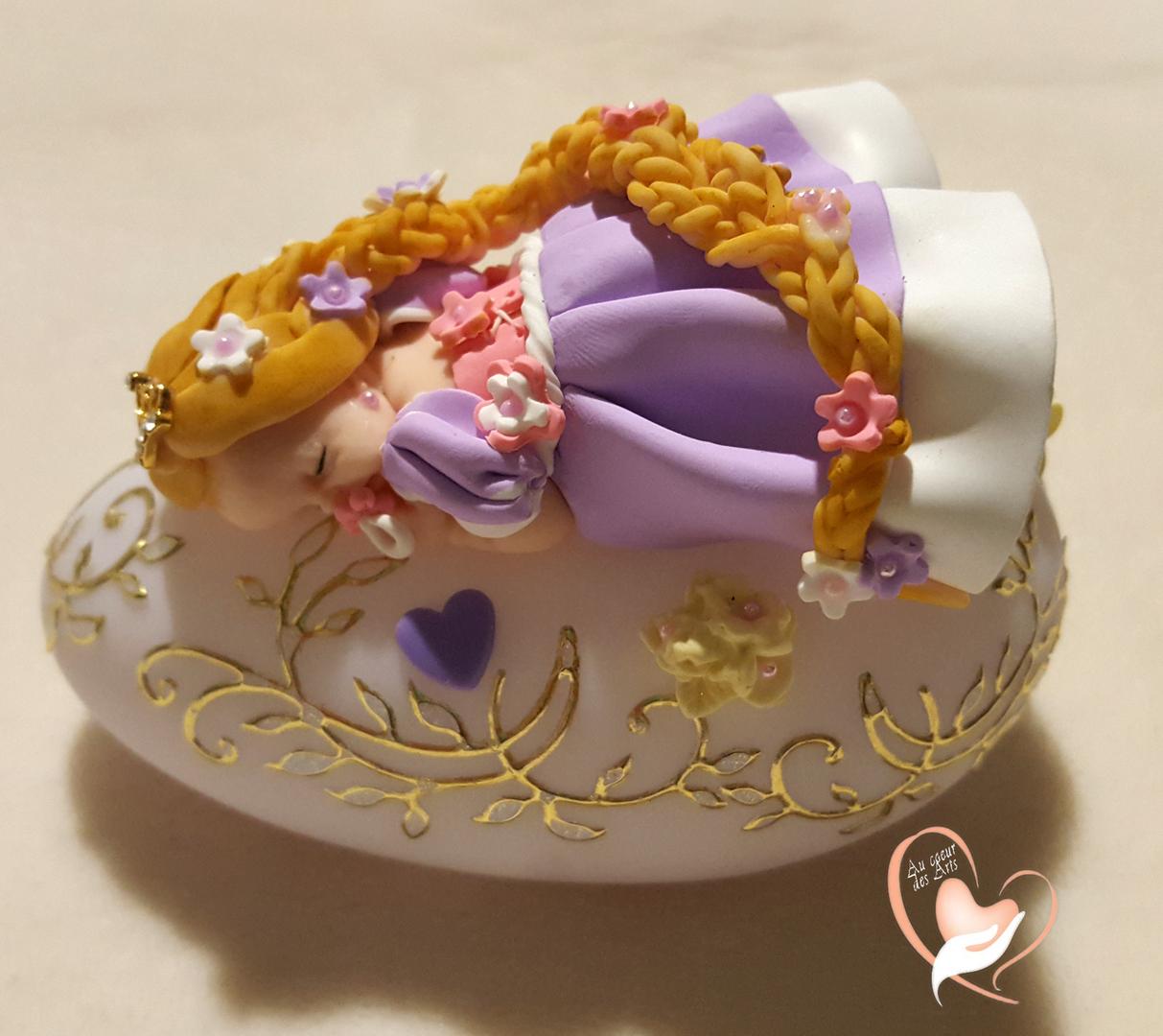 Veilleuse galet lumineux b b fille raiponce au coeur des arts enfants au coeur des arts - Bebe raiponce ...