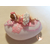 Veilleuse galet lumineux bebe fille rose- au coeur des arts