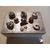 9B-Boîte à sucre ou à biscuits grise et blanche - au coeur des arts