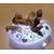 76C- au coeur des arts - Veilleuse galet lumineux bebe fille