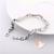 112-au coeur des arts -Bracelet zircon petit pavé et maillons rectangulaires