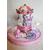 102-au coeur des arts-Veilleuse carroussel musical lumineux sur socle en bois bebe fille