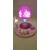 au coeur des arts-Veilleuse lampe lumineuse sur socle en bois bebe fille