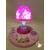 C-au coeur des arts-Veilleuse lampe lumineuse sur socle en bois bebe fille