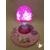 E-au coeur des arts-Veilleuse lampe lumineuse sur socle en bois bebe fille