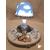 104A-au coeur des arts-Veilleuse lampe lumineuse sur socle en bois bebe fille