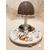 104B-au coeur des arts-Veilleuse lampe lumineuse sur socle en bois bebe fille