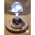 106-au coeur des arts-Veilleuse lampe lumineuse sur socle en bois bebe garçon