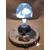 109B-Veilleuse lampe lumineuse sur socle en bois bebe garçon - au coeur des arts
