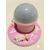 115-au coeur des arts-Veilleuse ciel étoilé lampe lumineuse rose sur socle en bois bebe fille