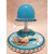 116B-au coeur des arts-Veilleuse lampe lumineuse sur socle en bois bebe fille sirene
