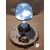 111B-au coeur des arts-Veilleuse lampe lumineuse sur socle en bois bebe garçon