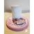 117-au coeur des arts-Veilleuse lampe lumineuse sur socle en bois bebe fille