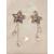76-au coeur des arts-boucles etoiles en cristal plaqué or