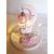 120C-au coeur des arts-Veilleuse lampe licorne sur socle en bois bebe fille
