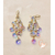78-au coeur des arts-boucles d'oreille grappe de cristal plaqué or