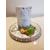 125B-au coeur des arts-Veilleuse lampe lumineuse sur socle en bois bebe garçon
