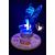 1D-au coeur des arts-Veilleuse sur socle en bois bebe fée clochette