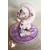139-au coeur des arts-Veilleuse lampe lumineuse sur socle en bois bebe fille