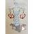 12-créole perles de cristal perle centrale Murano monture argent poids 6 G 2.5 de diametre 4 cm de longeur N° 9 10 €