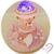 au coeur des arts-Carrousel musical Veilleuse lampe sur socle en bois
