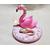 V129B-au coeur des arts-bébé fimo sirène et sa veilleuse flamant rose