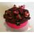 Boîte à gâteaux chocolat et fushia- au coeur des arts