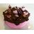 Boîte à gâteaux chocolat et rose - au coeur des arts