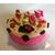 Boîte à gâteaux fushia et vanille- au coeur des arts