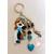 Porte clés ou bijou de sac poupée bleu ciel - au coeur des arts 2