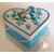 Boîte de naissance bleue turquoise et blanc - au coeur des arts2