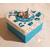 28-Boîte de naissance turquoise et blanche - au coeur des arts