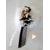 16-Bijoux de sac Pompon blanc - au coeur des arts