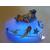 23B-Veilleuse galet lumineux bébé fille marine- au coeur des arts