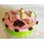 25-Boîte à gâteaux ou dosettes rose pistache- au coeur des arts