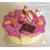 26-Boîte à gâteaux ou dosettes fushia vanille- au coeur des arts